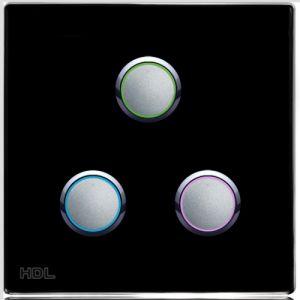 3-клавишная кнопочная Smart панель, LED индикация, EU стандарт (без шинного соединителя HDL- MPPI.48)