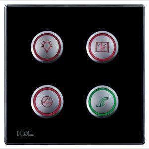 4-клавишная кнопочная Smart панель, LED индикация, европейский стандарт (без шинного соединителя HDL- MPPI.48)