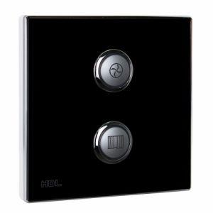 2-клавишная кнопочная Smart панель, LED индикация, EU стандарт (без шинного соединителя HDL- MPPI.48)